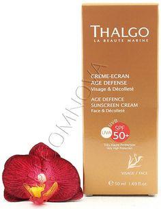 Thalgo Age Defence Sunscreen Cream - Creme-Ecran Age Defense SPF50+ 50ml #Thalgo #sun #sunscreen #cream #skincare #face #spf50