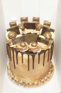 The Cake Decorating Business Cake Decorating Designs, Creative Cake Decorating, Creative Cakes, Cake Designs, Ferrero Rocher, Chocolate Drip Cake, Chocolate Recipes, Cupcakes, Cupcake Cakes