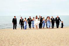 wedding party beach photos - Google Search