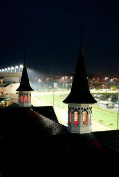 Churchill Downs & The Twin Spires at Night ~ Louisville, Kentucky