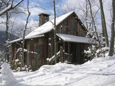 Snowy Day at Balsam Mountain - Guest Cottage