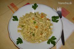 Cestoviny s tofu (fotorecept) - recept Tofu, Grains, Rice, Seeds, Laughter, Jim Rice, Korn