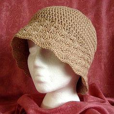 crochet pattern - brimmed hat