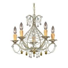 (CLICK IMAGE TWICE FOR UPDATED PRICING AND INFO) #home #ceiling #homeimprovement #homedecor #lighting  #lights #lightandfixture #chandeliers see more chandeliers at http://www.zbrands.com/Chandeliers-C35.aspx - Crystorama Chandeliers - Abigail 5 Light Mini Chandelier Finish: Gold Leaf