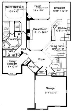 Home Plans HOMEPW24760 - 2,096 Square Feet, 2 Bedroom 2 Bathroom French Country Home with 2 Garage Bays