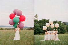 Blog da Maria. Casamento com balões. #casamento #balões