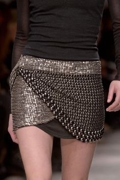 embellished skirt by Isabel Marant Fall 2013 RTW Collection Fashion Details, Love Fashion, Runway Fashion, High Fashion, Fashion Show, Womens Fashion, Fashion Design, Skirt Fashion, Paris Fashion