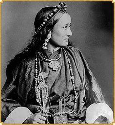 Tibetan Lady Wearing Lhasa Style Dress – c.1890