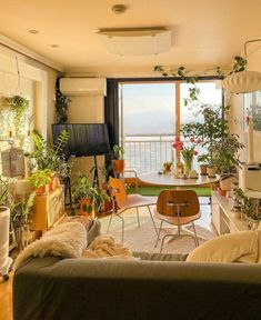 Biophilic Architecture, Modern Architecture, Window View, Open Window, Small Waterfall, Forest Art, Dream Apartment, Houseplants, Indoor Plants