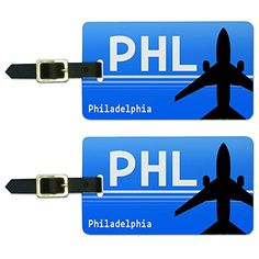 Philadelphia PA  International PHL Airport Code Luggage ID Tags Set of 2 * Want additional info? Click on the image.