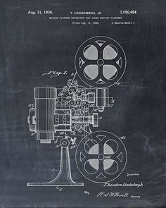 Hey, I found this really awesome Etsy listing at https://www.etsy.com/listing/205486946/patent-print-motion-picture-projector