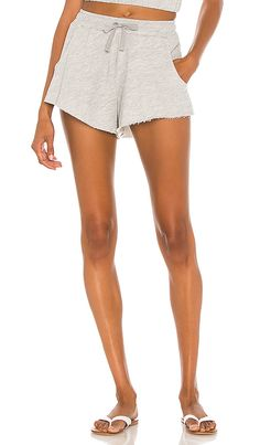 Lovers + Friends Everyday Terry Shorts in Gray | REVOLVE California Cool, Lounge Shorts, Revolve Clothing, French Terry, Drawstring Waist, Casual Shorts, Spring Summer, Lovers, Chic