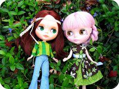 Saffron and Nori showing their St. Patrick's Pride #blythe #BP #MLC