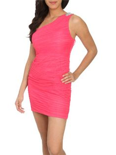 Shirred Mesh Dress  Style Number: 46005359    Was $98.00  Now $49.00