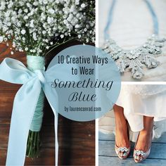 10 Creative Ways to Wear Something Blue on Your Wedding Day - love each and every one of these! | something blue | www.endorajewellery.etsy.com