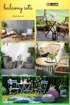 Wenn Sie haben einen Balkon besitzen, müssen Sie aufgrund der knappen Platzverhältnisse trotzdem nicht auf Lounge Möbel verzichten. Unsere kleineren Sets eignen sich auch problemlos als Balkon Möbel und oftmals können diese sogar noch zusammen gestapelt werden, um noch mehr Platz zu sparen. Diese Möbelstücke genügend Raum zum Ausruhen. Outdoor Furniture Sets, Outdoor Decor, Designs, Home Decor, Be Creative, Modern Outdoor Furniture, Balcony Ideas, Lounge Furniture, Waiting