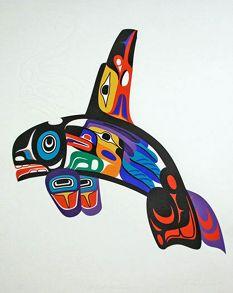 Marvin Oliver -Serigraphs  Alaska Eagle Arts Gallery,  Ketchikan, AK