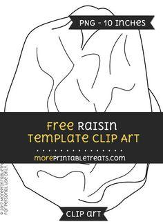 Free Raisin Template - Clipart