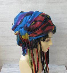 Vintage Sheer Scarf Turban Headband Women African Head Wrap