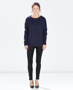 Image 1 of COATED TROUSERS from Zara