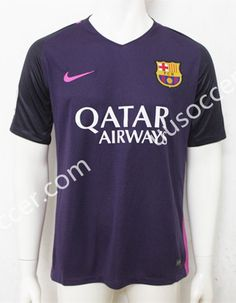 Without LFP 2016/17 Barcelona Away Purple Thailand Soccer Jersey AAA