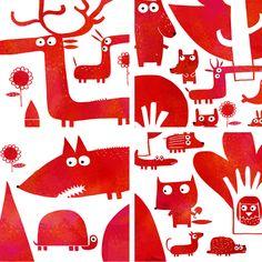 Nicolas Gouny Illustration - La forêt Vermillone