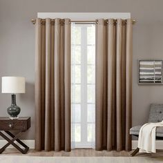 Madison Park Ombre Curtain ($50) ❤ liked on Polyvore featuring home, home decor, window treatments, curtains, window drapery, dip dye curtains, grommet curtains, window coverings and madison park curtains