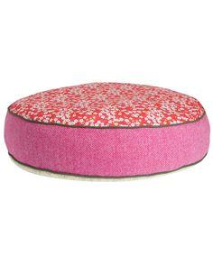 Large Pink Harris Tweed Mitsi Print Dog Bed, LoveMyDog for Liberty. Shop more dog accessories from the LoveMyDog for Liberty collection online at Liberty.co.uk
