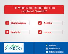 #ThrowbackThursday To which king belongs the Lion capital at Sarnath?  http://www.allaboutseniors.in/ #Historyquestion #TryAndBeat #QuizTime #Knowingtheleader #AllAboutseniors
