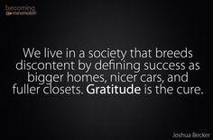 Gratitude cure