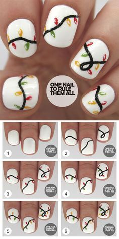 Who doesn't love properly manicured and well-groomed christmas nails. Ensuring you get as creative with your christmas nails as you are with your clothes is the industry of christmas nail art designs. Nail Art Noel, Nail Art Diy, Cool Nail Art, Nail Art At Home, Gel Nails At Home, Christmas Nail Art Designs, Holiday Nail Art, Easy Christmas Nail Art, Chrismas Nail Art