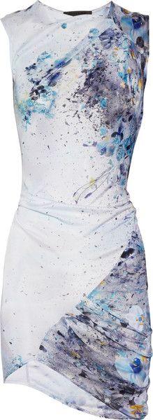 AMINAKA WILMONT Printed Satin-jersey Dress - Lyst