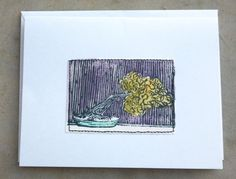 Bonsai Mixed Media Note Cards by lynndylandesigns on Etsy, $10.00