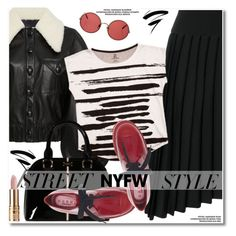 """""""NYFW: Street Style"""" by paculi ❤ liked on Polyvore featuring Balmain, Rodarte, Brush Strokes, Sunday Somewhere, contestentry and nyfwstreetstyle"""