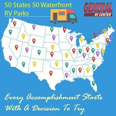 Roadtrip through the United States and travel to some of the best waterfront RV parks in the country!