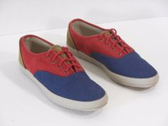 Keds Womens Sneakers Shoes Red Blue Brown Size 9  #Keds #Comfort