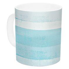 East Urban Home Waves by CarolLynn Tice 11 oz. Ceramic Coffee Mug