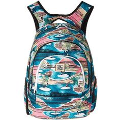 Dakine Prom Backpack 25L (Palmbay) Backpack Bags ($45) ❤ liked on Polyvore featuring bags, backpacks, dakine, padded laptop backpack, laptop backpack, backpack laptop bag and water bottle backpack