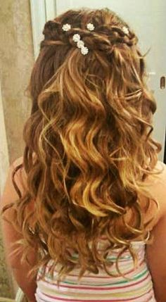 Superb Waterfall Braid With Curls Waterfall Braids And Waterfalls On Hairstyle Inspiration Daily Dogsangcom