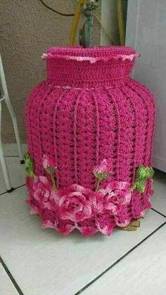 Crochet Carpet, Crochet Home, Crochet Crafts, Crochet Doilies, Crochet Flowers, Crochet Projects, Crochet Towel Holders, Crochet Jar Covers, Crochet Edging Patterns