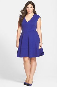 #Eight Sixty #Dresses #Eight #Sixty #Seamed #Flare #Dress #(Plus #Size) #Spectrum #Blue Eight Sixty Seamed Fit & Flare Dress (Plus Size) Spectrum Blue 2X http://www.snaproduct.com/product.aspx?PID=5204537