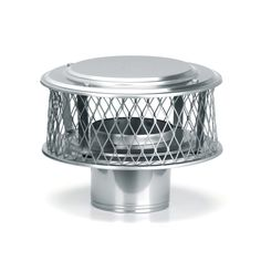 """HomeSaver 13846 8"""" Round 316 Alloy Stainless Steel Chimney Cap with 3/4"""" Mesh fr Stainless Steel Vent Pipe Chimney Cap Factory-Built"""