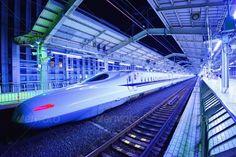Bullet Train ...  Mass Transit, Rail line, bullet train, commuting, fast, high speed, high-speed, japan, japanese, kansai, kyoto, modern, night, platform, rail, railline, rails, railway, shinkansen, station, stop, train, train station, trains, transit, transportation