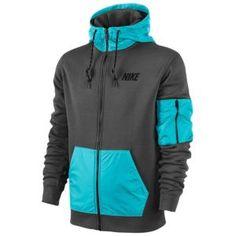 Nike Hybrid Full Zip Hoodie - Men's - Charcoal Heather/Black
