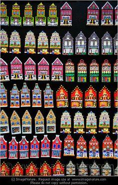 Amsterdam souvenir houses - fridge magnets photo
