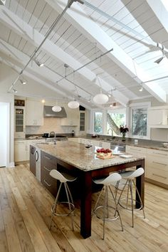 Interesting. A Semi Industrial Treatment. | Lighting | Pinterest | Beach  Cottages, Cottage Style And Countertops