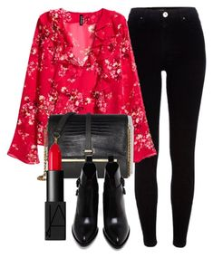 A fashion look from January 2017 featuring ruffle blouses, River Island and leather bootie. Browse and shop related looks. Spring Fashion Outfits, Edgy Outfits, Fall Outfits, Summer Outfits, Cute Outfits, Outfit Winter, Outing Outfit, College Outfits, School Fashion