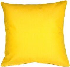 Sunbrella Sunflower Yellow Outdoor Pillow
