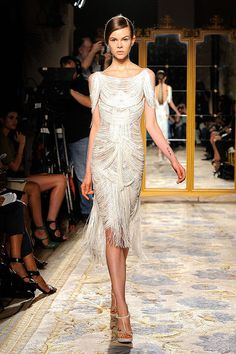 Marchesa Spring 2012 <3 Loving the fringe! Classically done