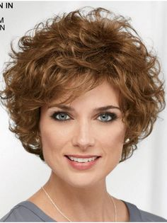 Get your favorite Curly Brown Short Designed Classic Wigs at lowest price possible. New arrivals and trendy wigs.The most natural look & feel. Curly Hair Cuts, Curly Bob Hairstyles, Short Curly Hair, Hairstyles With Bangs, Short Hair Cuts, Curly Hair Styles, Layered Hairstyle, Long Hair, Men's Hairstyle